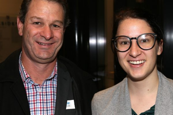 Geelong Young Professionals breakfast at Presidents Room, Geelong Football Club.Topic ,Future of Working in Geelong. Ashley Shaw of COGG and Aj Armstrong of VicRoads.Picture: Mike Dugdale