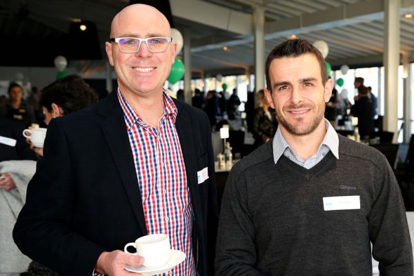 GYP Networking Breakfast with Jem Fuller. Brenden Calagari and Aaron Hamill. Picture: Mike Dugdale