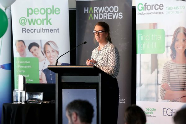 GYP Networking Breakfast with Jem Fuller. Georgia Martin. Picture: Mike Dugdale