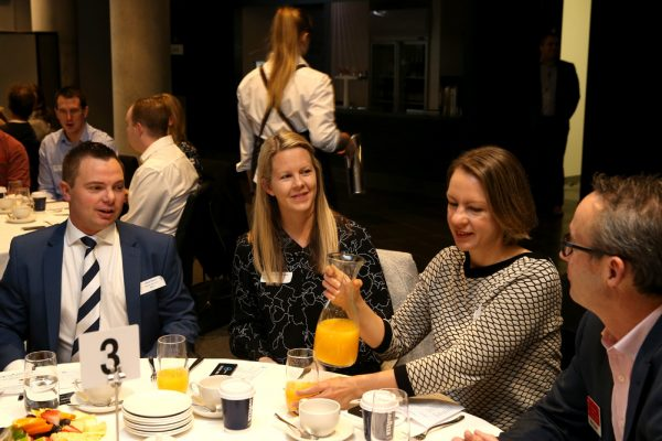 Geelong Young Professionals breakfast at Presidents Room, Geelong Football Club.Topic ,Future of Working in Geelong. Picture: Mike Dugdale