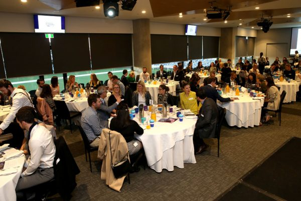 Geelong Young Prefessionals Clever and Creative Future Geelong breakfast at Presidents Room, GMHBA Stadium. Picture: Mike Dugdale