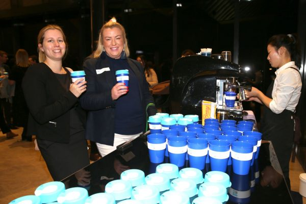 Geelong Young Prefessionals Clever and Creative Future Geelong breakfast at Presidents Room, GMHBA Stadium. Kristy Rethus and Kate Swifte. Picture: Mike Dugdale