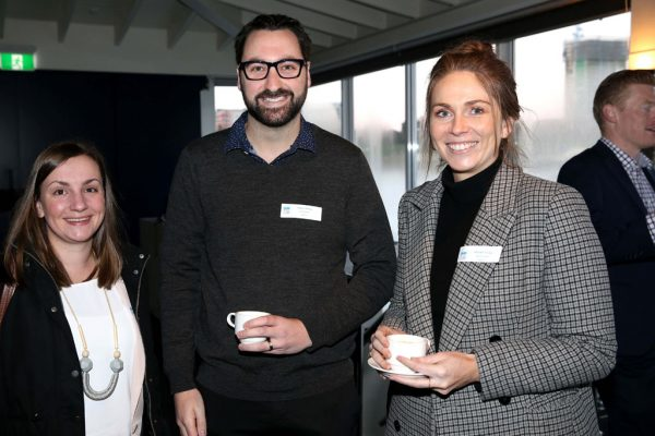 GYP Networking Breakfast with Jem Fuller. Caitlin O'Sullivan, Anders Munro and Hannah Young. Picture: Mike Dugdale
