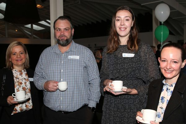 GYP Networking Breakfast with Jem Fuller. Kylie Grotheer, Mick Alexander, Mollie Connelly and Emily McPhee. Picture: Mike Dugdale
