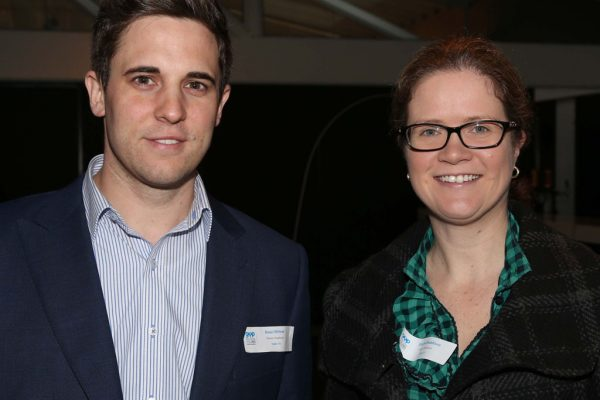 GYP Networking Breakfast with Jem Fuller. Beau Mittner and Simone Beddison. Picture: Mike Dugdale