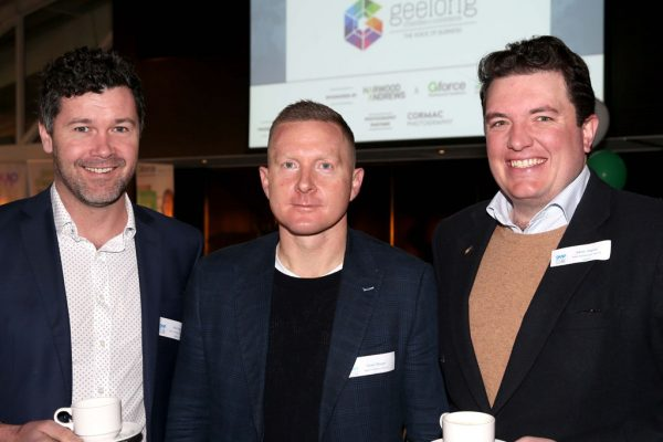 GYP Networking Breakfast with Jem Fuller. John Grigg, Steve Tillinger and Adam Jaques. Picture: Mike Dugdale