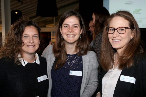 GYP Networking Breakfast with Jem Fuller. Jenna O'Brien, Rachel Harkin and Rosie Mason. Picture: Mike Dugdale